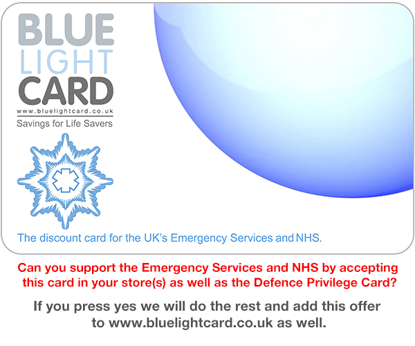 Help Support the NHS and Emergency Services with Blue Light Card