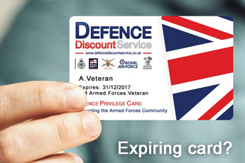 Renewing your expiring Defence Privilege Card